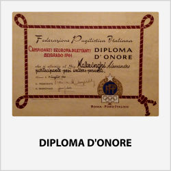DIPLOMA D'ONORE